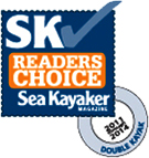 SeaKayaker Magazines readers choice award to Seaward Kayaks for best Tandem 2011-2014